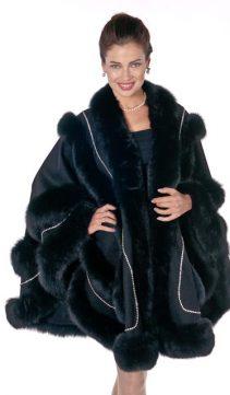 black cashmere cape-swarovski-empress style