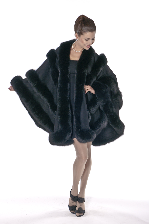 cashmere fox fur-trimmed-black-empress style