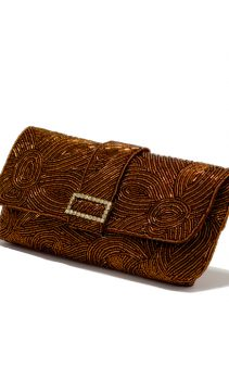 Bronze-Beaded-Evening-Bag-Beaded-Clutch-Purse
