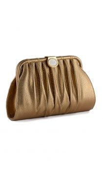 Bronze-Leather-Evening-Bag-Clutch-Crystal-Clasp