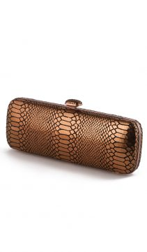 Bronze-Snakeskin-Evening-Bag