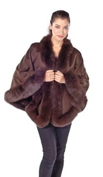 dark brown cashmere 100% cape