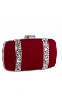 Burgundy-Satin-Swarovski-Crystal-Evening-Bag
