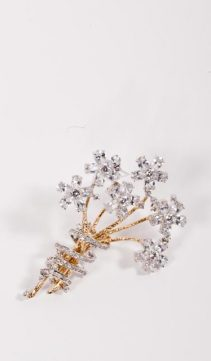CZ-Diamond-Bouquet-Pin-CZ-Bouquet-Brooch