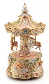 Carousel-Music-Box-Revolving-Horse-Carousel