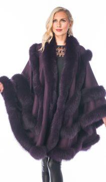 women's cashmere cape-purple plum-empress style