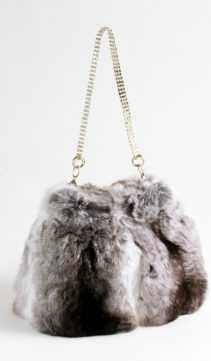 Chinchilla-Fur-Evening-Bag