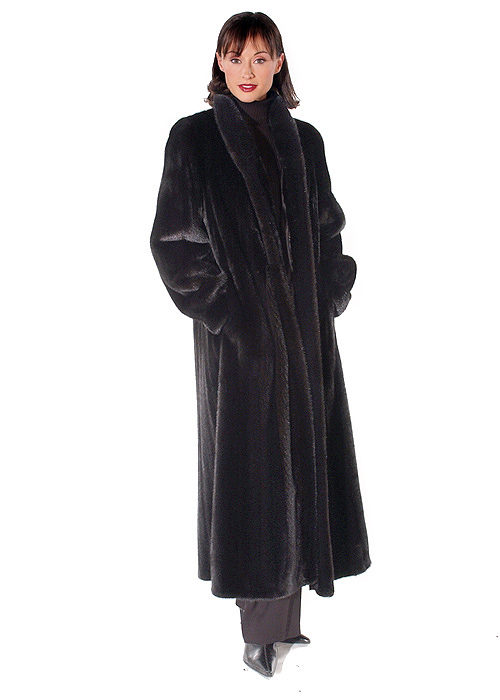 genuine real mink fur coat-mandarin-classic mink collar