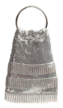 Evening-Bag -Silver-Mesh-Soft-Mesh-Handbag