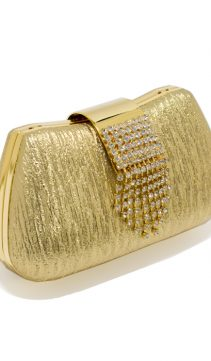 Evening-Purse-Gold-Leather-Swarovski-Crystals