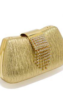 Evening-Purse-Gold-Leather-Swarovski-Crystals
