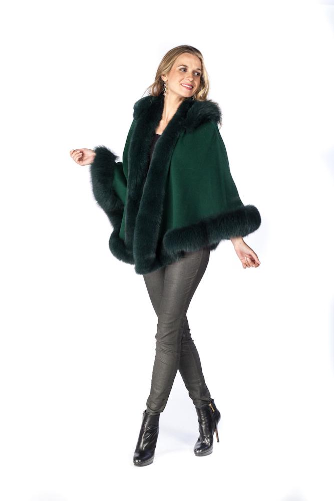 Green coat cape