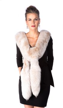fox fur boa real-natural fox fur trim-frost fox