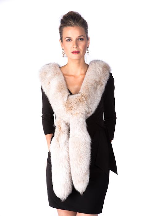 22ae5e8a8a51c fox fur boa real-natural fox fur trim-frost fox