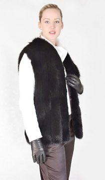 fox vest for women natural-real fox fur vest-natural fur vest