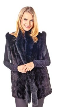 Fox-Trimmed-Sheared-Mink-Vest-Ranch-Mink