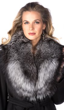 natural real fur cuffs-silver fox fur cuffs and collars
