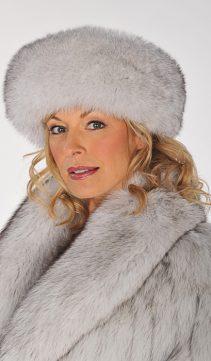 natural blue fox fur head wrap-fur headband