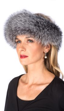 silver fox fur headband-natural real fur handband