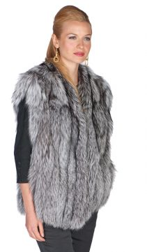 fur vest-fox fur vest-natural fox fur-genuine fox fur vest