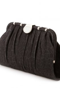 Glittering-Moire-Evening-Bag-Black-Clutch-Purse