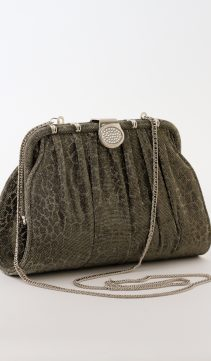 Glittering-Moire-Evening-Bag-Pewter-Clutch-Purse