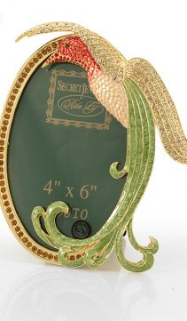 Jeweled-Oval-Picture-Frame-Hummingbird