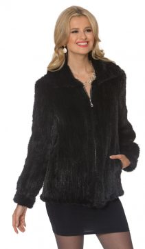 Knitted-Mink-Jacket-Midnight-Black-Zippered