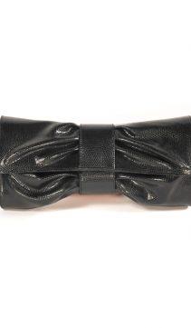 Lizard-Leather-Clutch-Bag-Classic-Bow