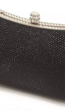 Lizard-and-Swarovski-Crystal-Evening-Bag-Black