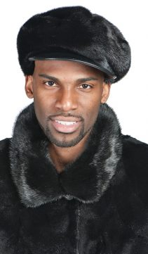 Mens-Mink-Hat-Mink-Cap-with-Leather-Bill