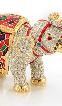 Miniature-Elephant-Jeweled Box