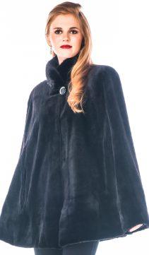 real sheared natural mink opera cape-genuine mink cape