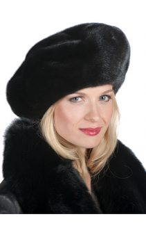 Mink-Fur-Hat-Black-Mink-Large-Mink-Beret