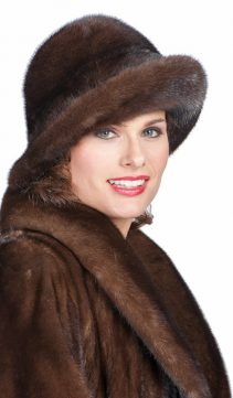 mahogany mink fur hat women's fur hat