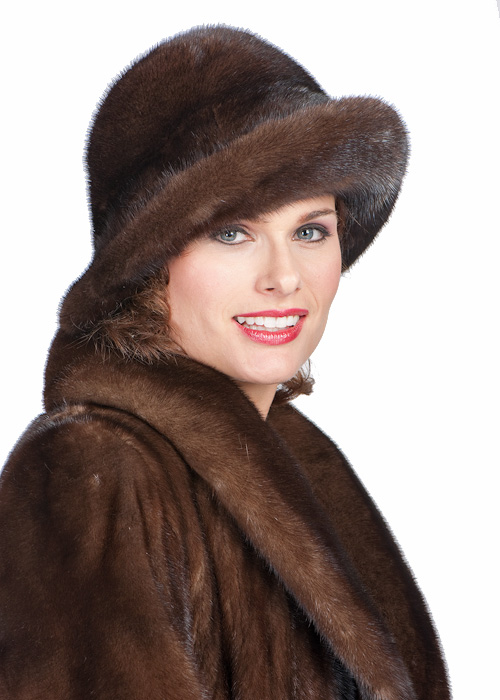 Womens black zipper style 100% Pure Cashmere Wool Fedoras