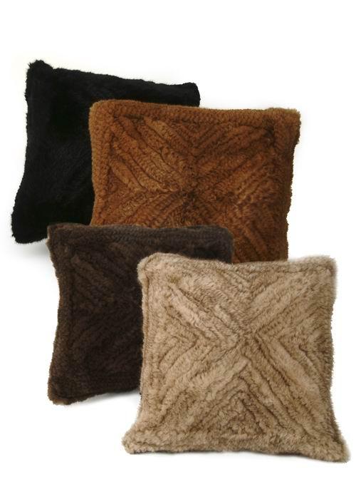 Mink Fur Pillow-Knitted Mink Pillow 2750MNKPLW