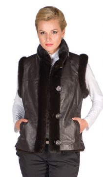 Mink-Leather-Vest-Brown-Sheared-Mink-Reversible