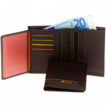 genuine continental wallet for men and women-natural brown