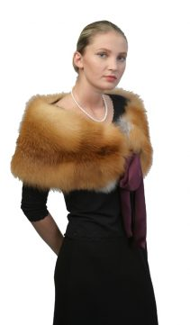 fox fur capelet-cape with fur trim-cape fox trim