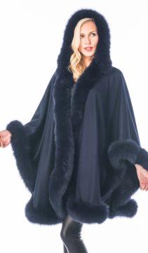 100% pure cashmere overcoat-detachable hood