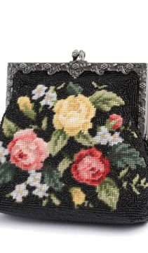 Needlepoint-Evening-Bag-Vintage-Style-Black