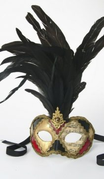 Party Mask-Feathered-Music-Themed-Mask