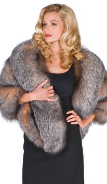 natural fox fur cape-plus size real fur fox cape