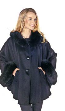 Cashmere Coat – Lavender Blue – Full Length Wrap Coat | Madison