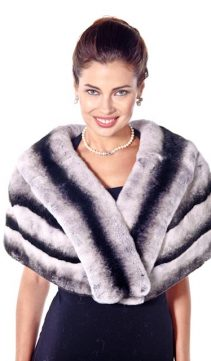 real rex fur stole-genuine rex chinchilla stole-plus size