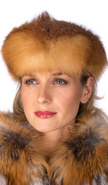 red fox fur headband-real fox fur headband for women