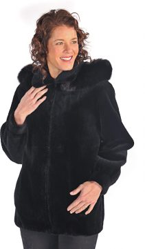 Sheared-Beaver-Jacket-Black-Fox-Trimmed-Hood