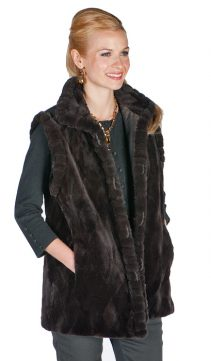 Sheared-Brown-Mink-Vest-Reversible-Grooved-Collar