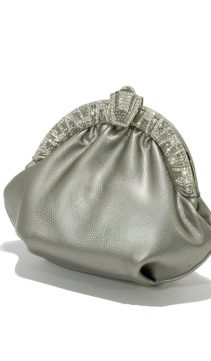 Swarovski-Crystral-Pewter-Leather-Evening-Bag